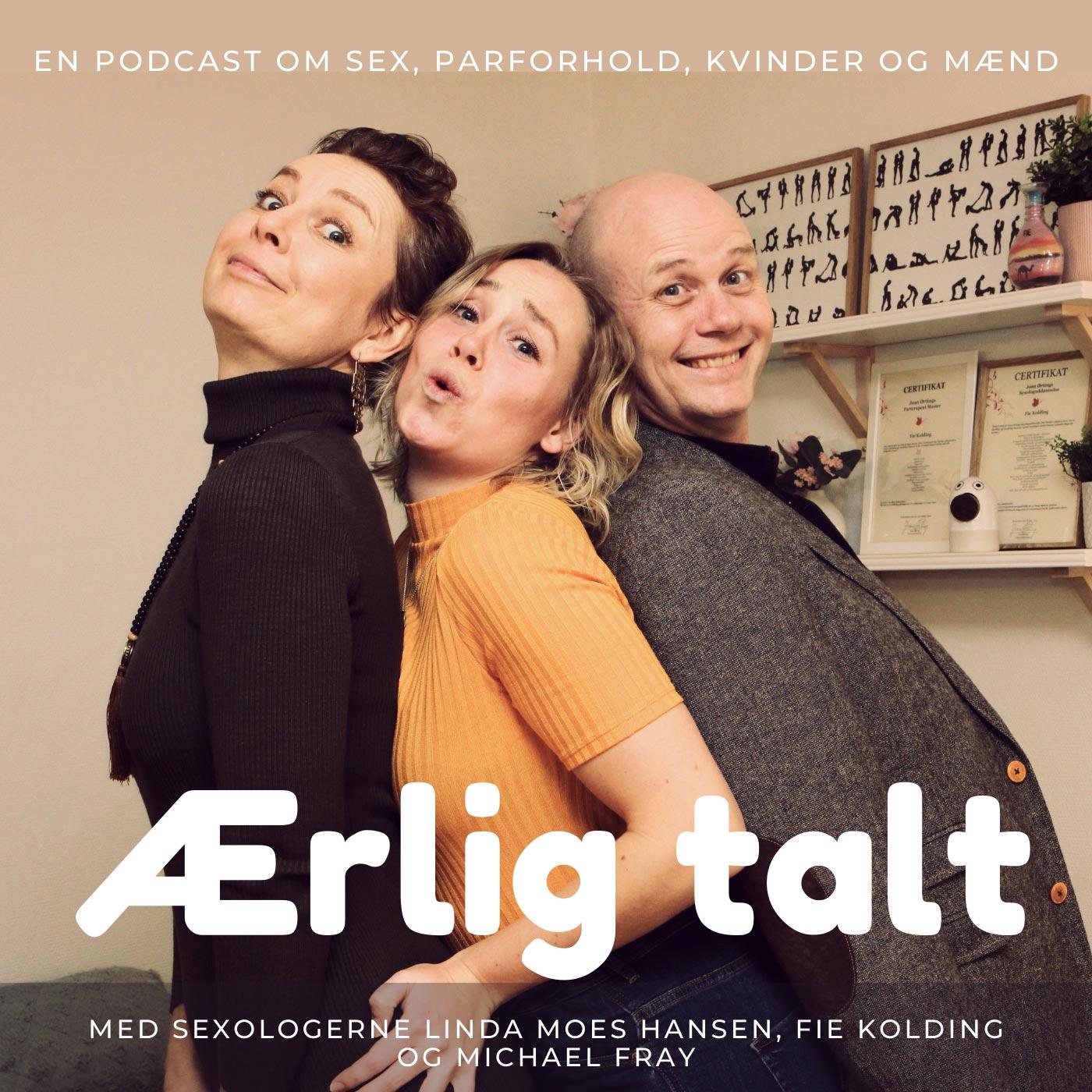 Cover for Podcasten Ærlig talt